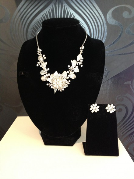 Floral Necklace & Earrings to match